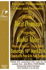 April 2016 - Handel Dixit Dominus