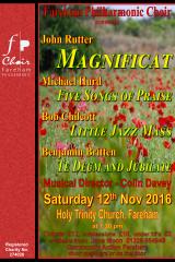 November 2016 - Britten Te Deum & Jubilate