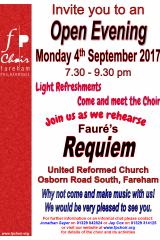 September 2017 - Open Rehearsal