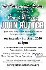 PCU Rutter Choral Workshop, 4 April
